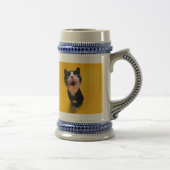 Svartvit katt-smoking katt-husdjur ölkrus