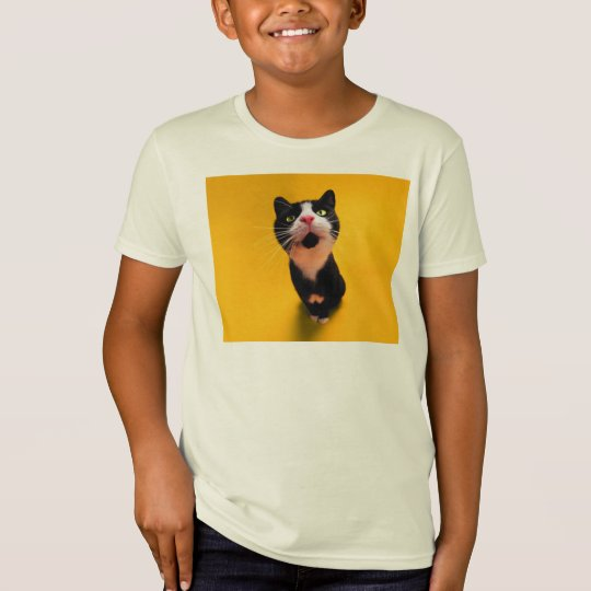 Svartvit katt-smoking katt-husdjur t-shirt