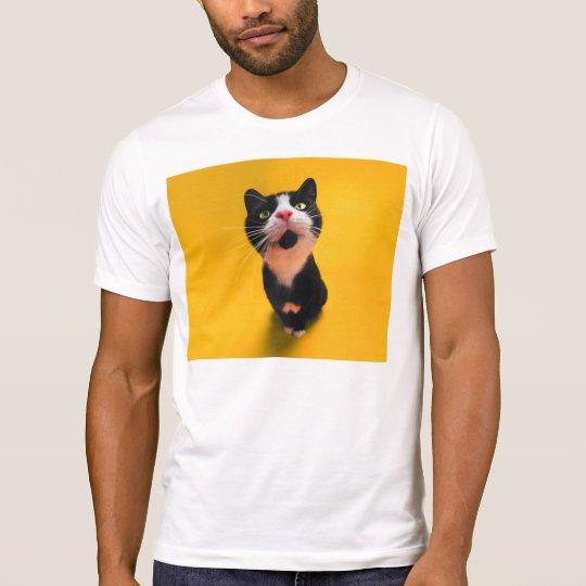 Svartvit katt-smoking katt-husdjur t shirt