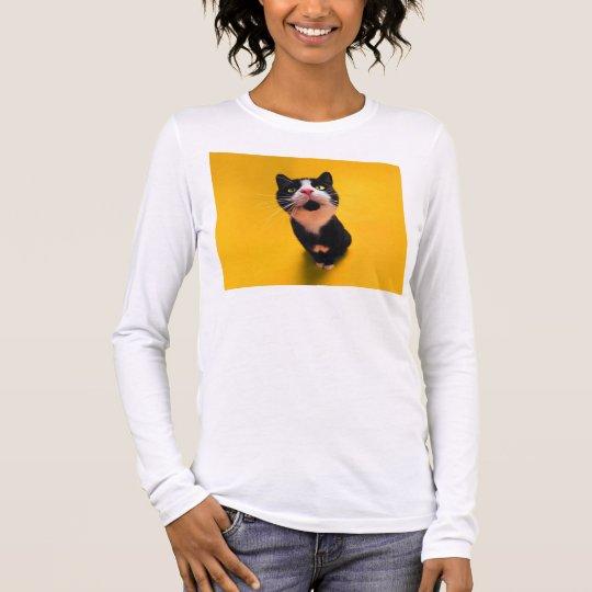 Svartvit katt-smoking katt-husdjur t shirts