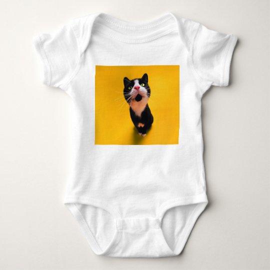Svartvit katt-smoking katt-husdjur tee shirt