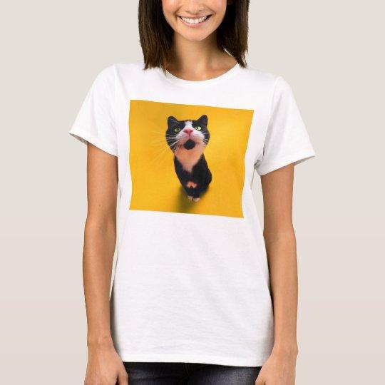 Svartvit katt-smoking katt-husdjur tee shirts
