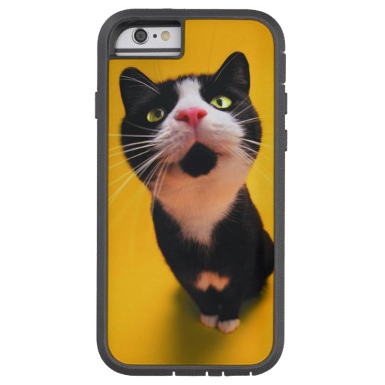 Svartvit katt-smoking katt-husdjur tough xtreme iPhone 6 case