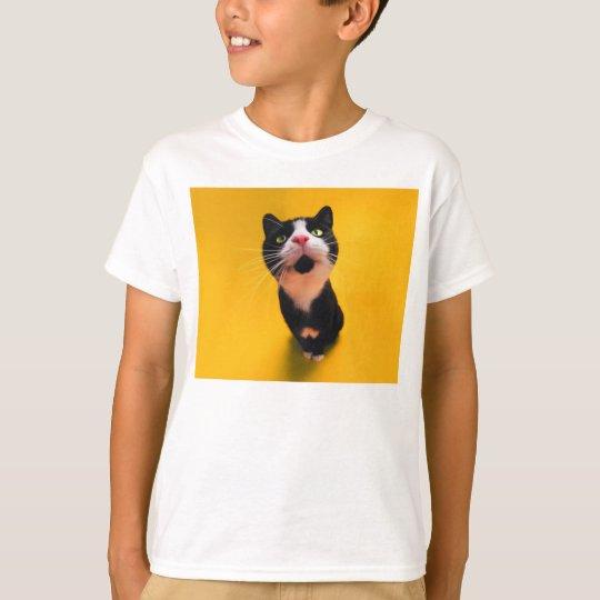 Svartvit katt-smoking katt-husdjur tröja