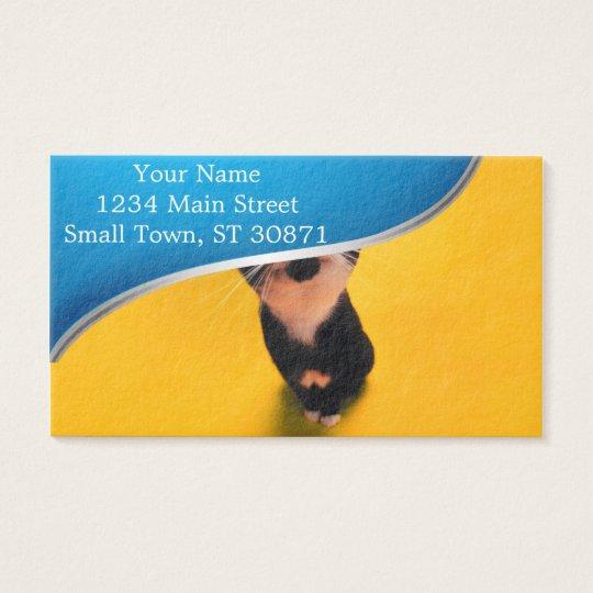 Svartvit katt-smoking katt-husdjur visitkort