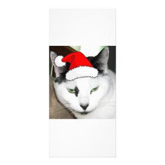 Svartvit kattunge för jul reklamkort
