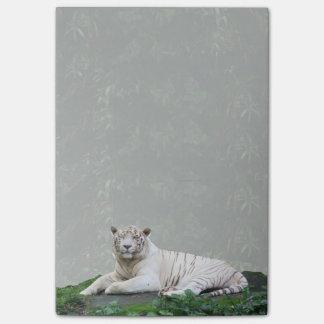 Svartvit kopplad av Bengal tiger och le Post-it Block