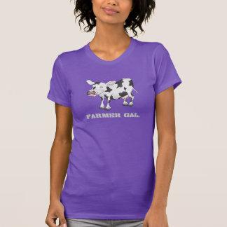 Svartvit kot-skjorta t shirt