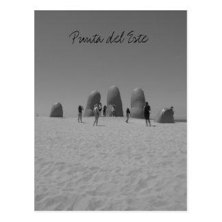svartvit lamanopunta vykort