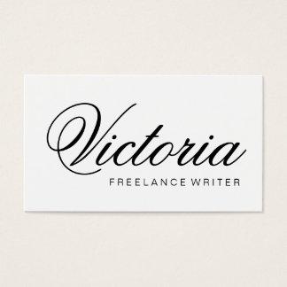 Svartvit minimalist elegant visitkort