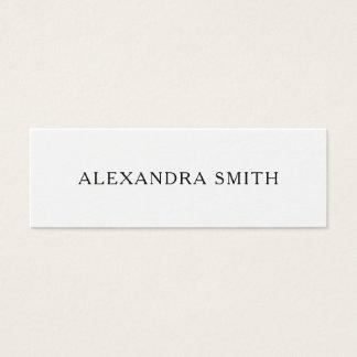 Svartvit minimalist modern visitkort