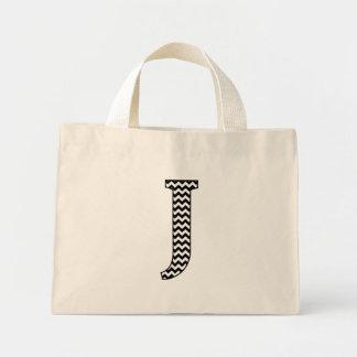 Svartvit Monogram för sparrebrev J Mini Tygkasse