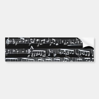 Svartvit musik noter bildekal