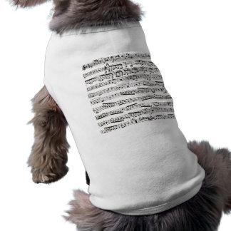 Svartvit musik noter långärmad hundtöja