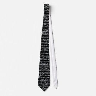 Svartvit musik noter slips