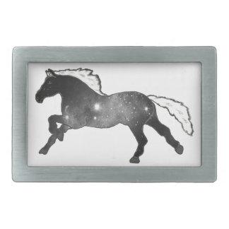 Svartvit Nebulagalax för kall enkel häst