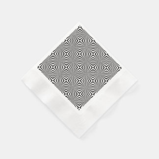 Svartvit optisk illusion pappersservett