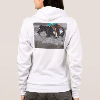 Svartvit Overo hästhingst T-shirt