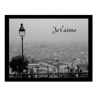 Svartvit Paris för anpassade vykort