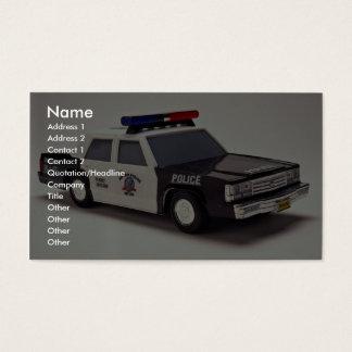 Svartvit polisbil visitkort