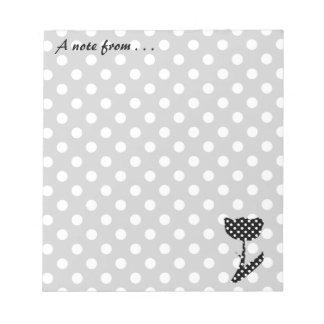 Svartvit polka dots anteckningsblock