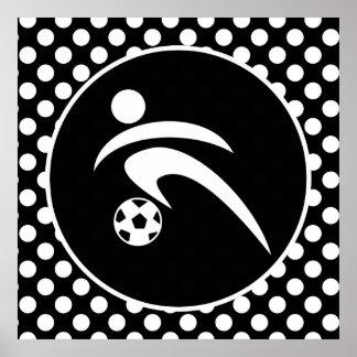 Svartvit polka dots Fotboll