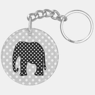 Svartvit polka dotselefant