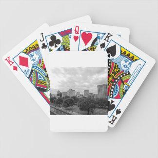 Svartvit Portland horisont Spelkort