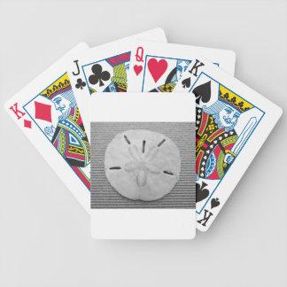 Svartvit Sanddollar Spelkort