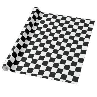 Svartvit schackbräde presentpapper
