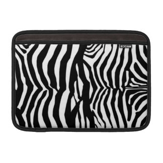 Svartvit sleeve för zebra ränderMac Airbook Sleeves För MacBook Air