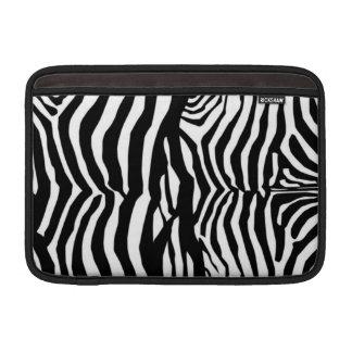 Svartvit sleeve för zebra ränderMac Airbook MacBook Air Sleeve