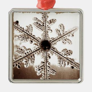 Svartvit Snowflake Julgransprydnad Metall