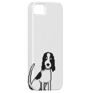 Svartvit springer-/cockerspanielSpaniel (PIXELhund iPhone 5 Hud