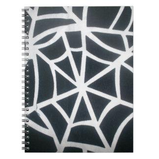 Svartvit St för fantastisk vit- och svartwebben Anteckningsbok Med Spiral