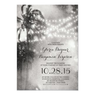 Svartvit strandbröllopinbjudan 12,7 x 17,8 cm inbjudningskort