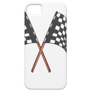 Svartvit tävlings- flagga för klassiker iPhone 5 fodral