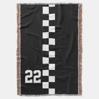Svartvit tävlings- flagga för personlig filt