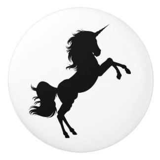 Svartvit Unicornsagaknopp Knopp