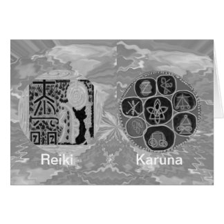 Svartvit version - Reiki n Karuna Hälsningskort