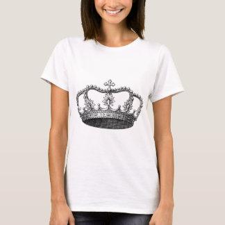 Svartvit vintagekrona t-shirts