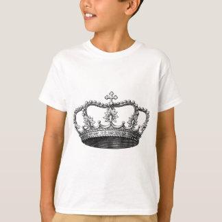 Svartvit vintagekrona tshirts