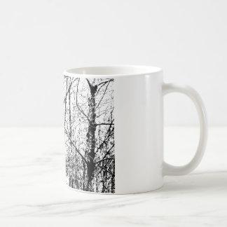 Svartvit vinter kaffemugg