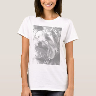 Svartvit Yorkshire Terrier Yorkie Tröja