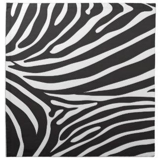 Svartvit zebra mönstrad modern zebra tryck tygservett