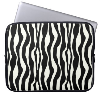 Svartvit zebra ränder - datorskydds fodral