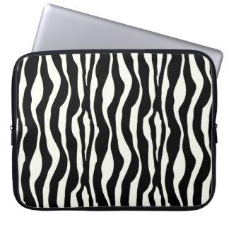 Svartvit zebra ränder - laptopfodral