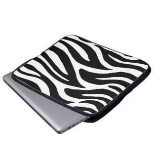 Svartvit zebra ränder laptopfodral