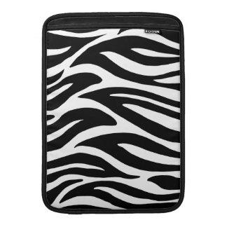 Svartvit zebra ränder MacBook sleeves