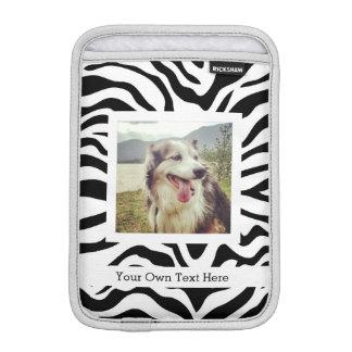 Svartvit zebra ränder med fotoet och text
